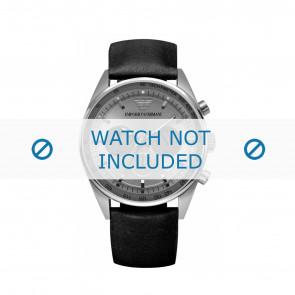 Armani Uhrenarmband AR5994 Leder Schwarz 23mm