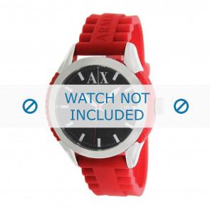 Armani Uhrenarmband AX1227 Kunststoff Rot 22mm