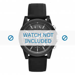 Armani Uhrenarmband AX1326 Silikon Schwarz