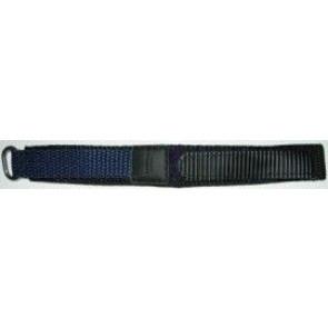 Klettband uhrenarmband dunkel blau 20mm
