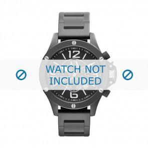 Armani Uhrenarmband AX-1503 Stahl Schwarz 22mm
