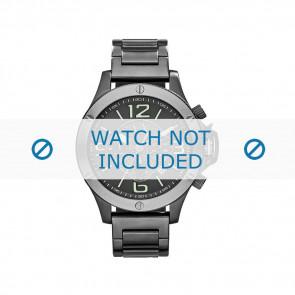 Armani Uhrenarmband AX-1507 Stahl Grau 22mm