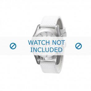 Armani Uhrenarmband AX-2071 Leder Weiß 22mm