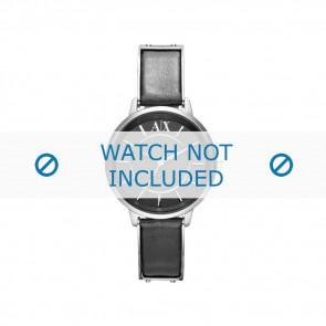 Armani Uhrenarmband AX-5303 Leder Schwarz 16mm