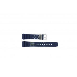 Tzevelion Uhrenarmband TZE-S285 / Citizen Kautschuk Blau 22mm