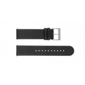 Mondaine Uhrenarmband BM20001 / FE16220.20Q Leder Schwarz 20mm