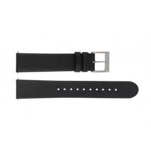 Mondaine Uhrenarmband BM20098 / FE16822.20Q.XL Leder Schwarz 22mm