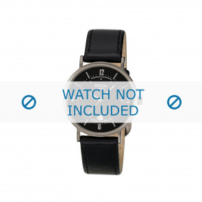 Boccia Uhrenarmband 3154 Leder Schwarz 16mm