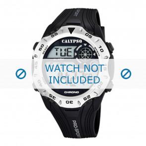 Calypso Uhrenarmband K5665-1 / K5665-2 / K5665-3 / K5665-4 / K5665-5 / K5665-6 Kunststoff Schwarz