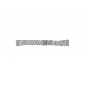 Casio Uhrenarmband A158WEA-1EF Stahl Silber 18mm