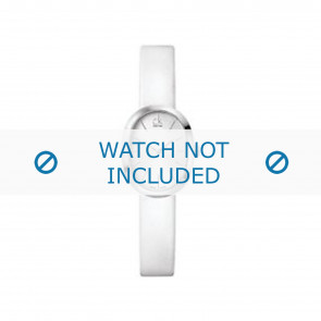 Calvin Klein Uhrenarmband K37232 Leder Weiss