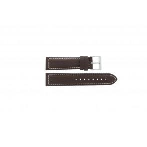 Davis Uhrenarmband BB1021 / BB1023 Leder Dunkelbraun 22mm