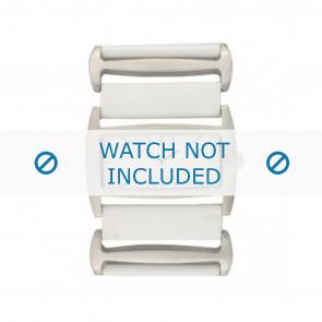 Davis Uhrenarmband BB0755 Leder Weiss 36mm