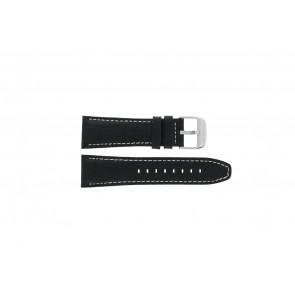 Lotus Uhrenarmband 15536 Leder Schwarz 26mm + weiße nähte