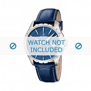 Festina Uhrenarmband F16486/6 Leder Blau 23mm + weisßen Nähten