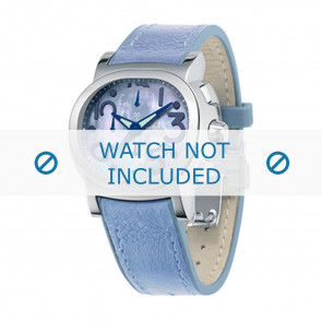 Festina Uhrenarmband F16125.2 Leder Blau 23mm + blauen nähte
