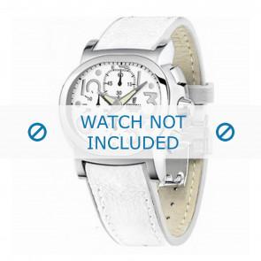 Festina Uhrenarmband F16125.7 Leder Weiss 23mm + weiße nähte