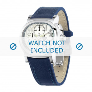 Festina Uhrenarmband F16125.1  Leder Blau 23mm + blauen nähte