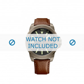 Hugo Boss Uhrenarmband HB-238-1-34-2757 / 1513168 / Orange Leder Braun 24mm + braunen nähte