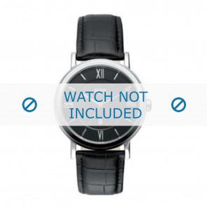 Hugo Boss Uhrenarmband HB-24-1-14-2034 / HB1512093 / HB1512092 Leder Schwarz 20mm + schwarzen nähte