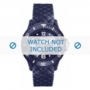Ice Watch Uhrenarmband 007271 Leder Blau 20mm + standardnähte