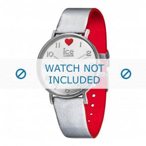 Ice Watch Uhrenarmband 013375 Leder Silber 18mm