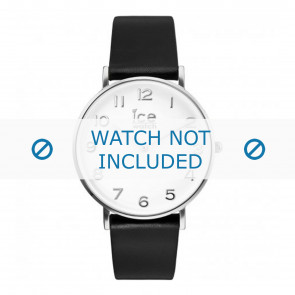 Ice Watch Uhrenarmband 001502 / CT.BSR.36.L.16 Leder Schwarz 18mm