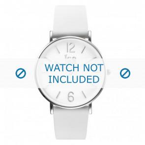Ice Watch Uhrenarmband CT.WSR.36.L.16 Leder Weiss 18mm