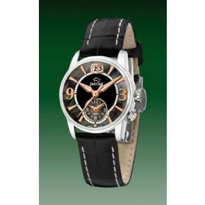 Jaguar Uhrenarmband J624-5 Leder Schwarz 16mm + weiße nähte