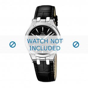 Jaguar Uhrenarmband J674-3 / J674-5 Leder Schwarz + schwarzen nähte