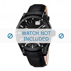 Jaguar Uhrenarmband J681-A / J681-B Leder Schwarz + schwarzen nähte