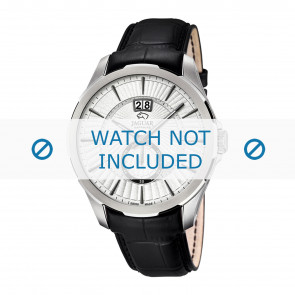 Jaguar Uhrenarmband J682-1 / J682-2 / J682-3 / J682-4 Leder Schwarz 22mm + schwarzen nähte