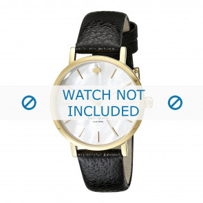 Kate Spade New York Uhrenarmband 1YRU0010 / MINI METRO Leder Schwarz