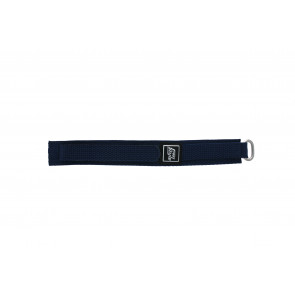 Klettband uhrenarmband marineblau 18mm