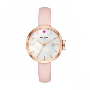 Kate Spade New York Uhrenarmband KSW1325 Leder Rosa