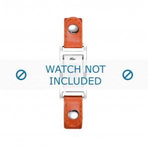 Lacoste Uhrenarmband 2000385 / LC-05-3-14-0009 Leder Orange 12mm + weiße nähte