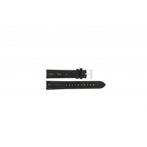 Lorus Uhrenarmband RR033X Leder Schwarz 18mm