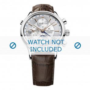 Maurice Lacroix Uhrenarmband LC6078-SS001-131 Leder Braun + braunen nähte