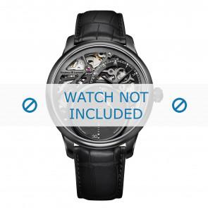 Maurice Lacroix Uhrenarmband MP6558-PVB01-092 Krokodilhaut Schwarz + schwarzen nähte