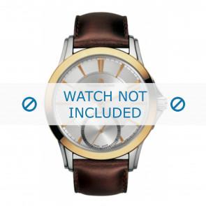 Maurice Lacroix Uhrenarmband  PT7518-PS101-130 Leder Braun + braunen nähte