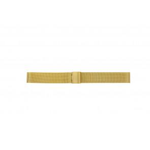 Other brand Uhrenarmband MESH18DBL Metall Gold 18mm