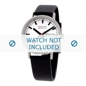 Mondaine Uhrenarmband A667.30314.11SBB / BM20028 / 30300 / 30314 / Classic 36 / Evo 35  Leder Schwarz 18mm
