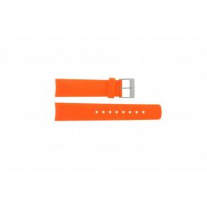 Nautica Uhrenarmband A16567G / A31505G / N14538G / N19523 / A16567G / N14612G / A13010G / A09904G Kautschuk Orange 22mm