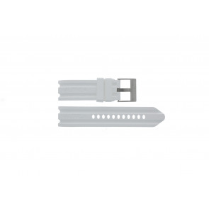 Nautica Uhrenarmband A15567G Gummi Weiß 24mm