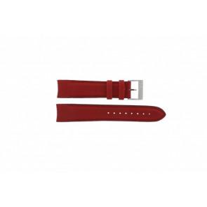 Nautica Uhrenarmband A24515G / N16532 Leder Rot 22mm