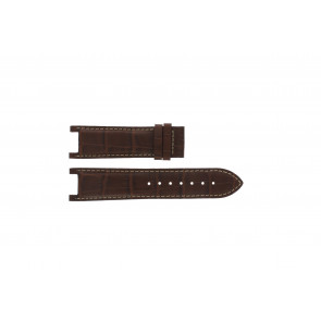 Guess Uhrenarmband GC41501G / 145003G1 Leder Braun 21mm + weiße nähte