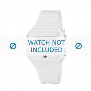 Adidas Uhrenarmband ADH4056 Gummi Weiß 20mm
