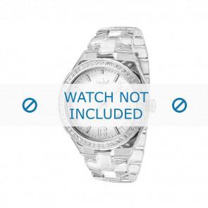 Adidas Uhrenarmband ADH2506 Kunststoff Weiß 22mm