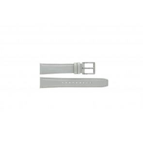 DKNY Uhrenarmband NY8585 Leder Weiss + weiße nähte