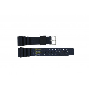 Dutch Forces Uhrenarmband 12750-BL Kunststoff Blau 24mm